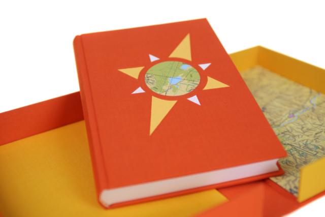 Betty Majoor boekbinder Eindhoven reisdagboek in bijpassende doos